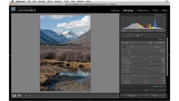 Applying Fill Light and Recovery: Up and Running with Lightroom 3