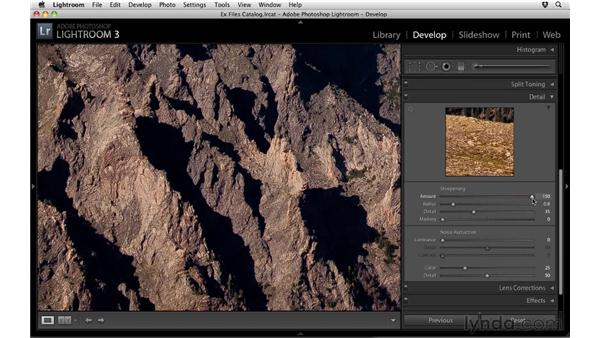Sharpening: Up and Running with Lightroom 3