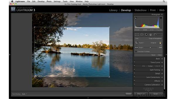 Cropping and straightening: Up and Running with Lightroom 3