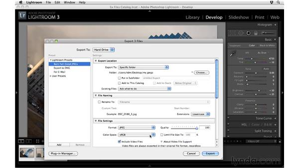 Exporting photos: Up and Running with Lightroom 3