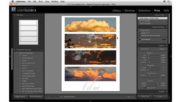 Printing photos: Up and Running with Lightroom 3