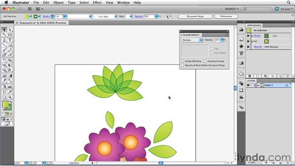 Using the Isolate Blending setting: Illustrator Insider Training: Seeing Through Transparency