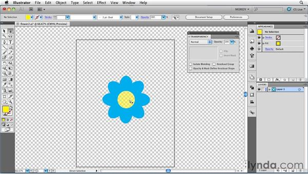 Using the Knockout Group setting: Illustrator Insider Training: Seeing Through Transparency