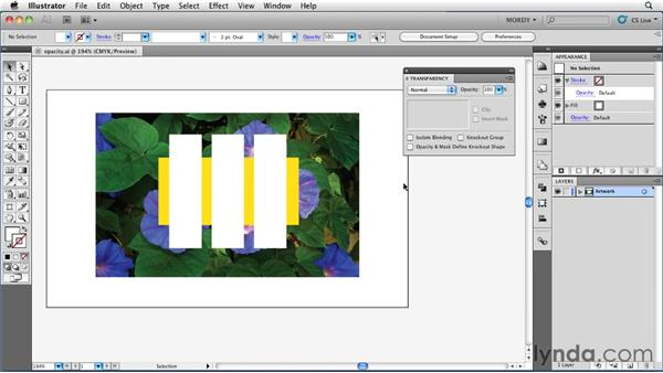 Understanding the Opacity & Mask Define Knockout Shape setting: Illustrator Insider Training: Seeing Through Transparency