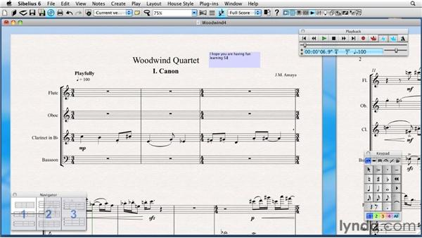 Navigating the Sibelius toolbar: Sibelius 6 Essential Training