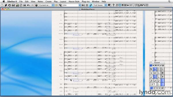 Making non-contiguous selections of staves (and focusing on staves): Sibelius 6 Essential Training