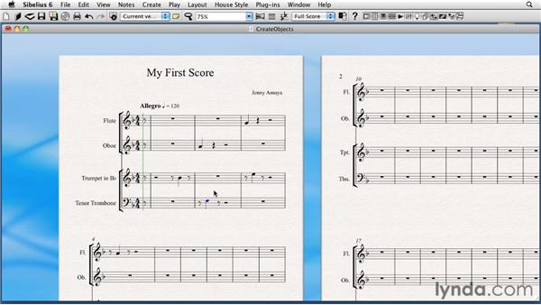 Creating objects: Sibelius 6 Essential Training