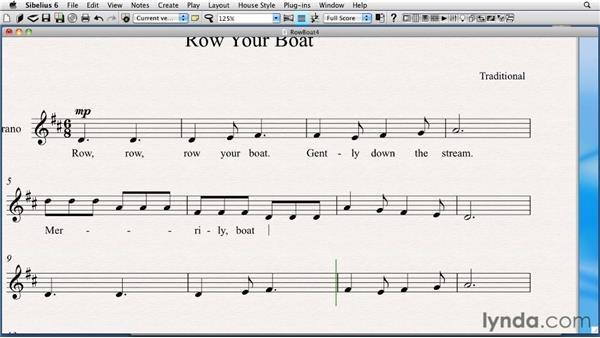 Creating lyrics: Sibelius 6 Essential Training