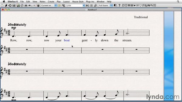 Editing text style appearance: Sibelius 6 Essential Training