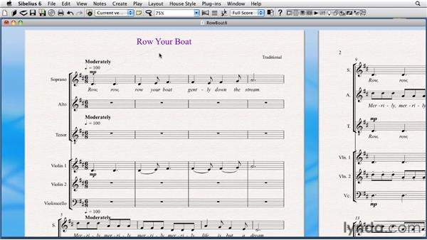 Editing the default positions of text: Sibelius 6 Essential Training