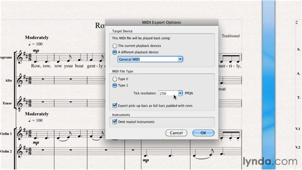 Exporting MIDI: Sibelius 6 Essential Training