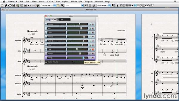 Exporting a score as an audio file: Sibelius 6 Essential Training