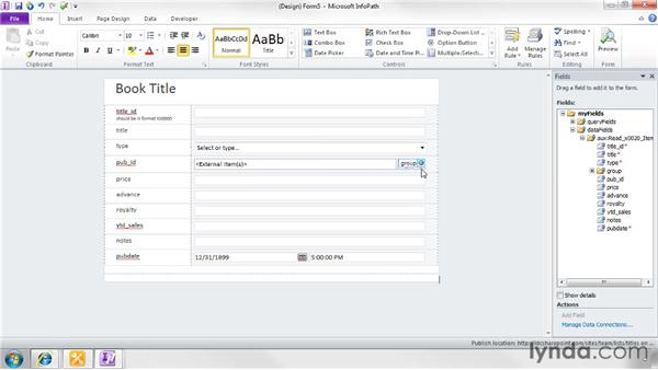 Creating custom forms with InfoPath 2010: SharePoint Designer 2010: Creating Data-Driven Web Pages