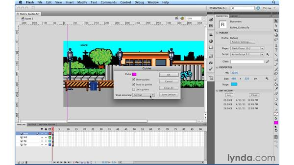 Shortcuts for rulers and guides: Flash Professional Power Shortcuts