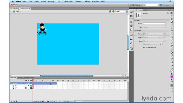 Exporting a movie clip or graphic symbol animation: Flash Professional Power Shortcuts