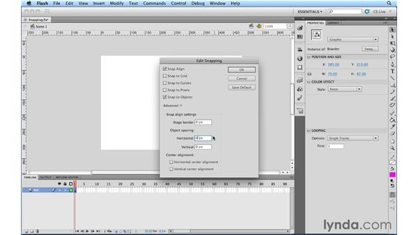 Snap To Guides and Snap To Objects: Flash Professional Power Shortcuts
