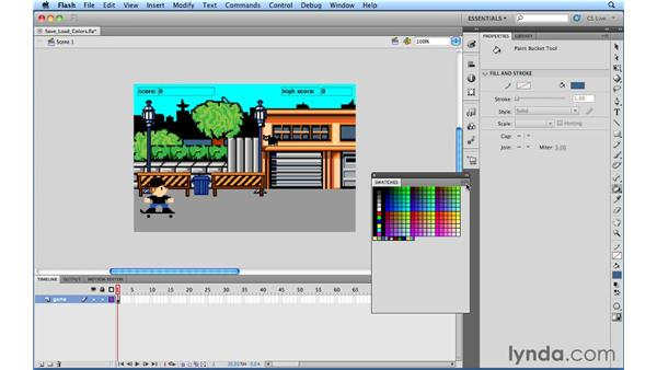 Saving and loading colors: Flash Professional Power Shortcuts