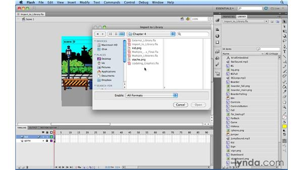 Importing objects to the Library: Flash Professional Power Shortcuts