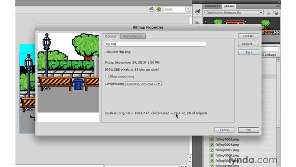 Optimizing bitmaps: Flash Professional Power Shortcuts