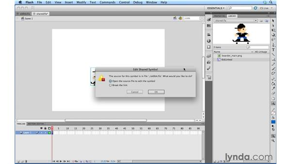 Working with Authortime shared assets: Flash Professional Power Shortcuts