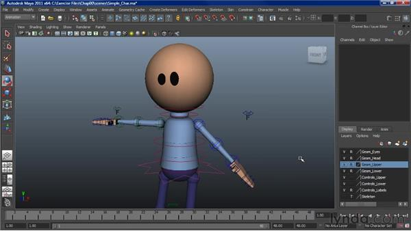 Character rig overview: Simple character: Character Animation: Maya