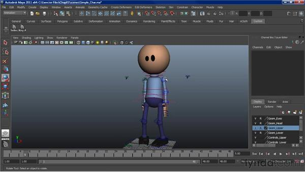 Learning the basics of posing characters: Character Animation: Maya