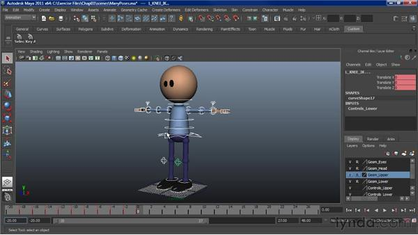 Creating stock poses: Character Animation: Maya