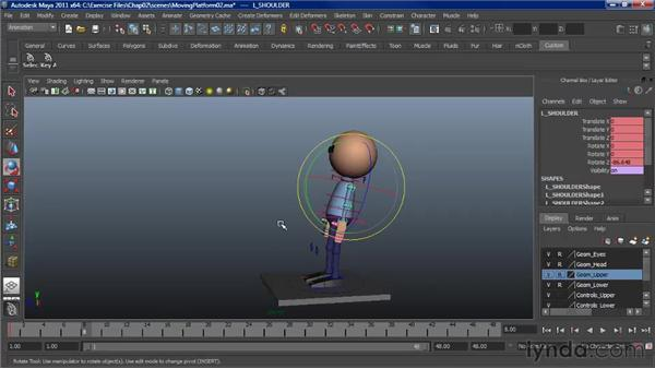 Working with secondary motion: Character Animation: Maya