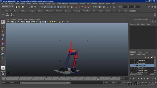 Animating weight shift: Character Animation: Maya