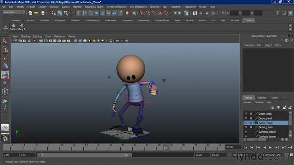 Animating pose to pose transitions: Character Animation: Maya