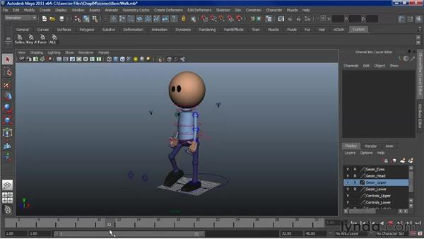 Analyzing a walk: Character Animation: Maya