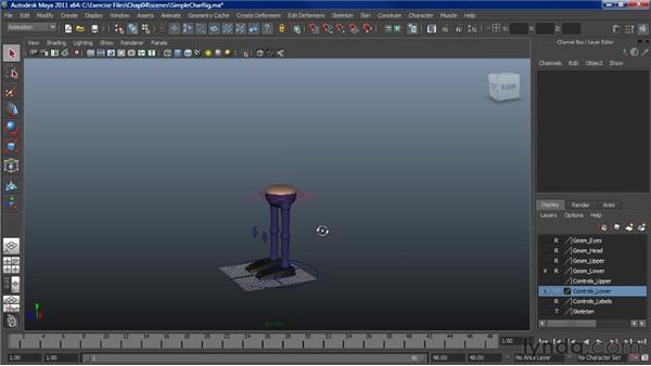 Setting up a character for a basic walk: Character Animation: Maya