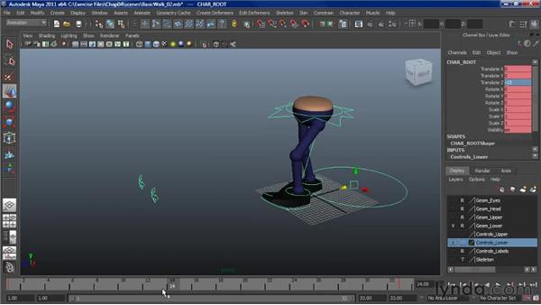 Animating a walk: Making the cycle symmetrical: Character Animation: Maya
