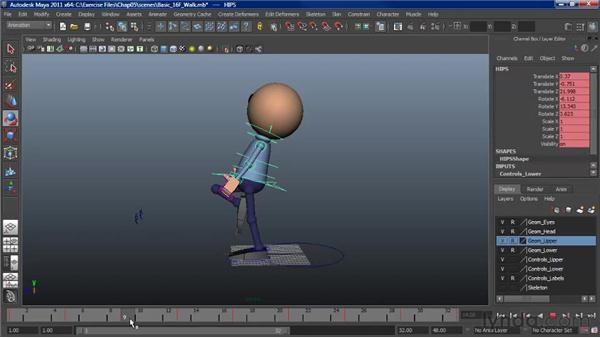 The importance of the passing position: Character Animation: Maya