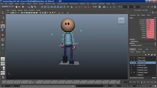 Working with foot placement: Character Animation: Maya