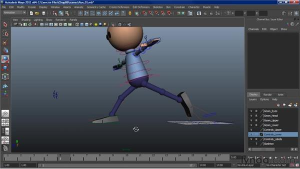 Animating a run: The second pose: Character Animation: Maya