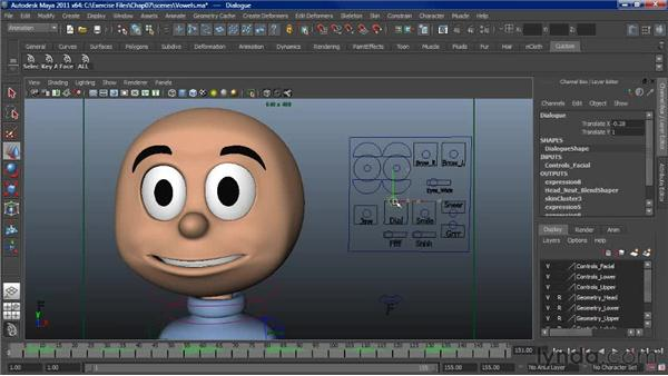 Overview of mouth controls: Character Animation: Maya