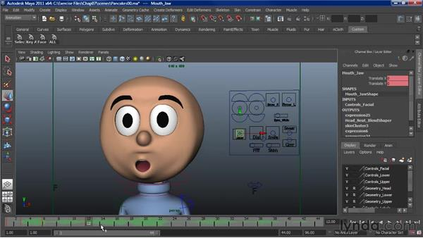 Animating lip sync: Assigning phonemes: Character Animation: Maya