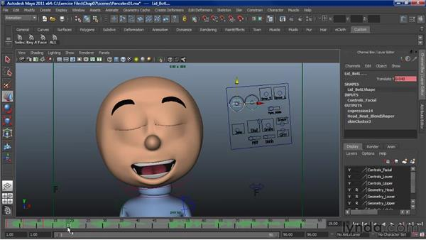 Animating lip sync: The head: Character Animation: Maya