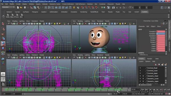 Animating lip sync: The body: Character Animation: Maya