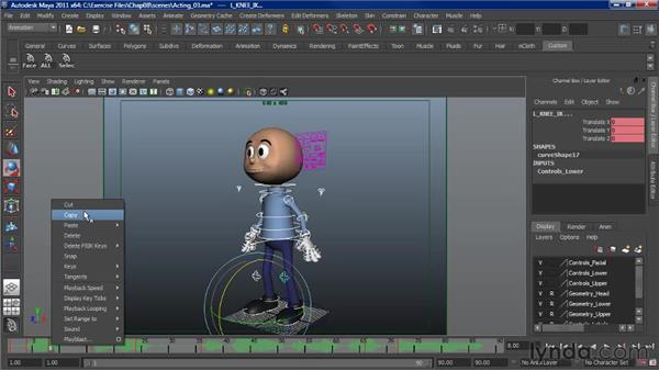 Animating moving holds: Character Animation: Maya