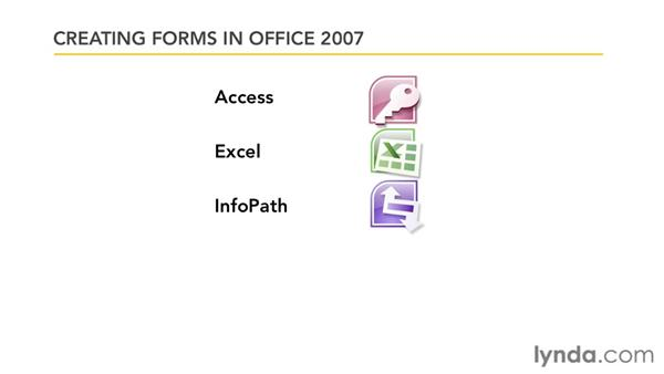 Creating forms in Office 2007: Word 2007: Forms in Depth