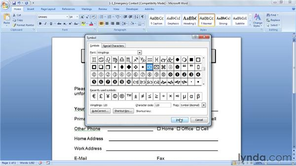 Understanding electronic forms: Word 2007: Forms in Depth