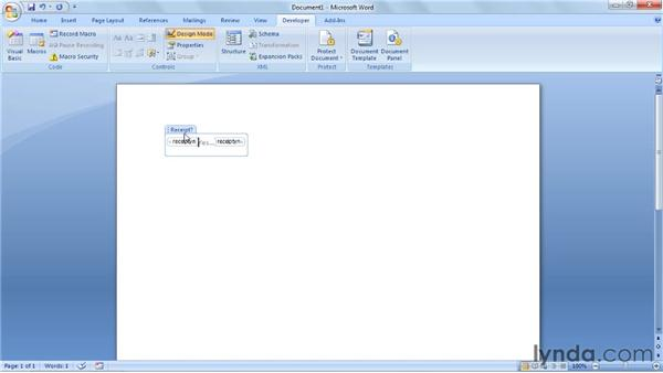 Inserting a CheckBox control: Word 2007: Forms in Depth
