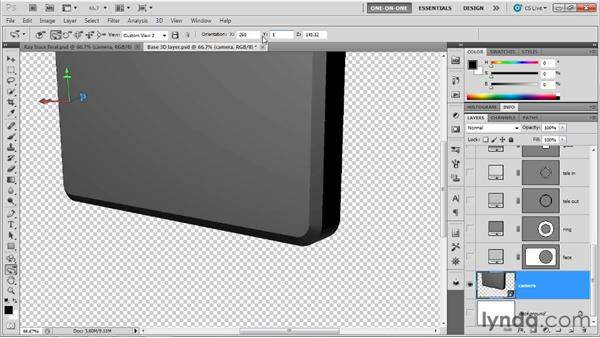 Staking your claim with the camera: Photoshop CS5 Extended One-on-One: 3D Scenes
