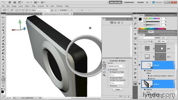 Building a complex Repoussé element: Photoshop CS5 Extended One-on-One: 3D Scenes