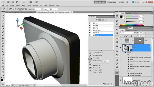 Taking control of Repoussé bevels: Photoshop CS5 Extended One-on-One: 3D Scenes