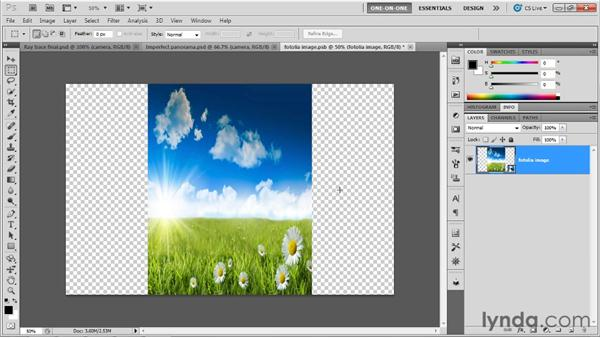Opening up a spherical panorama: Photoshop CS5 Extended One-on-One: 3D Scenes