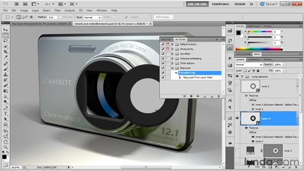 Automating Repoussé with an action: Photoshop CS5 Extended One-on-One: 3D Scenes