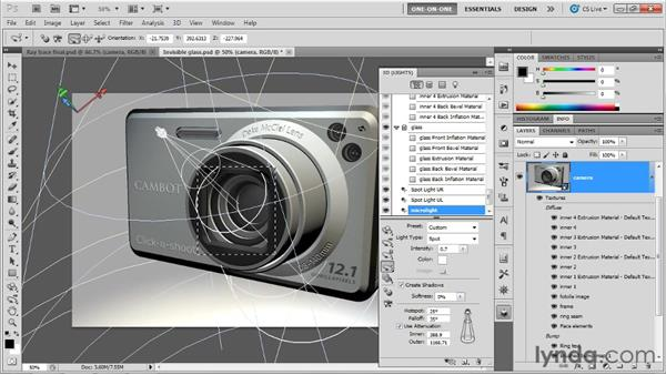 Introducing refraction: Photoshop CS5 Extended One-on-One: 3D Scenes